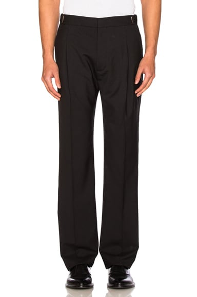 Lanvin One Pleat Pant in Black
