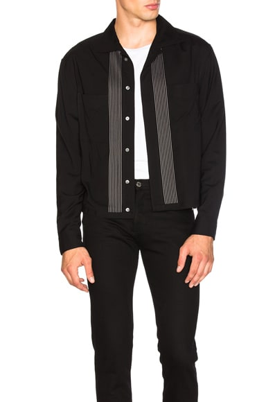 Lanvin Embroidered Jacket Shirt in Black