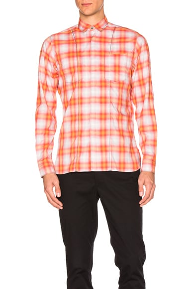 Lanvin Contrast Pocket Shirt in Coral