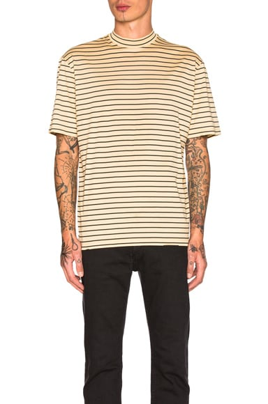 Lanvin Striped Tee in Sand