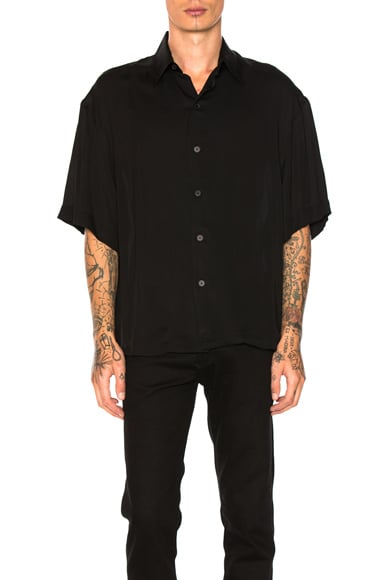 Lanvin Oversize Short Sleeve Shirt in Black
