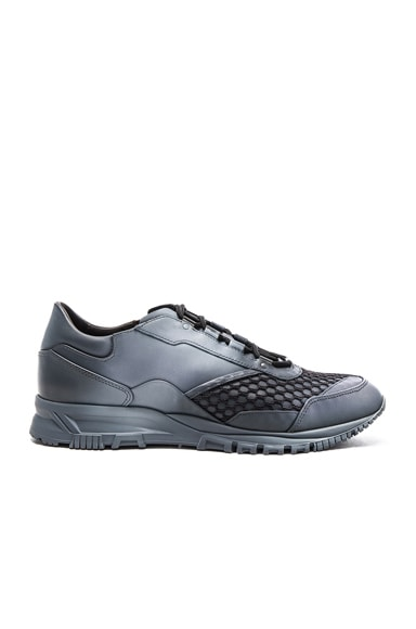 Running Leather Spray Sneakers