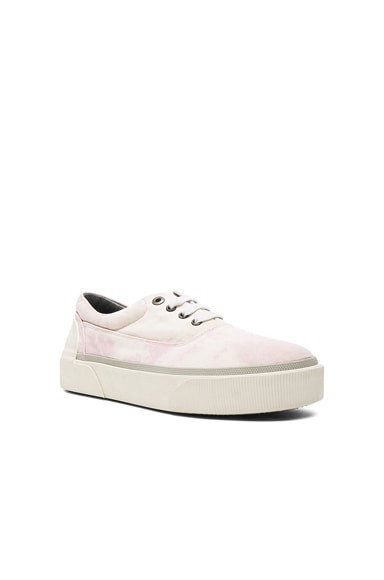 Lanvin Worn Fabric Oxford Sneakers in Pink