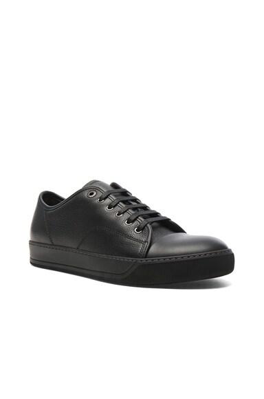 Lanvin Leather Low-Top Sneakers in Black