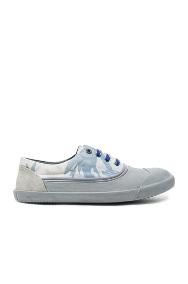 Printed Canvas Low Top Sneakers
