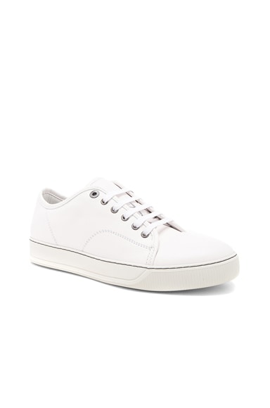 Calfskin Leather Low-Top Sneakers