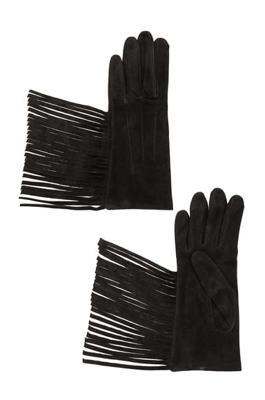 Lanvin Fringe Gloves in Black