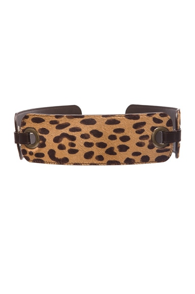 Lanvin Waist Belt in Leopard