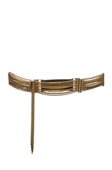 Lanvin Brass Chain Belt in Gold