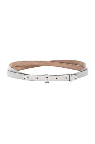 Lanvin Double Belt in Aged White