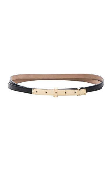 Lanvin Double Belt in Black