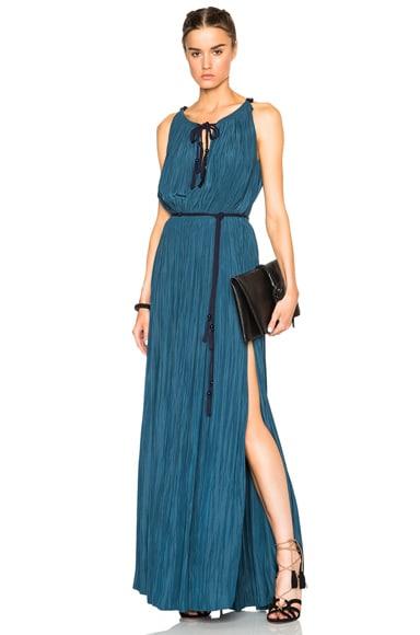 Lanvin Sleeveless Dress in Ocean Blue