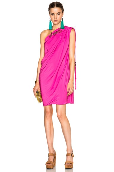 Lanvin One Shoulder Dress in Pink