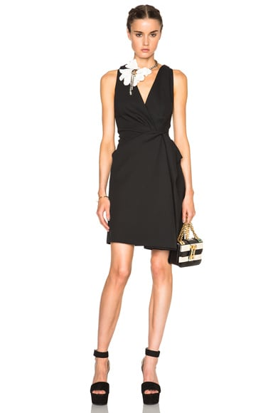 Lanvin V Neck Tank Dress in Black