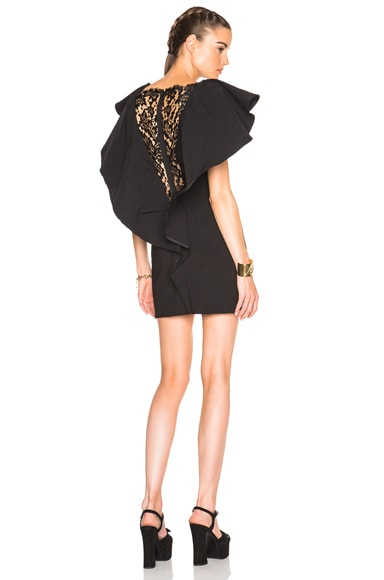 Lanvin Ruffle Dress in Black