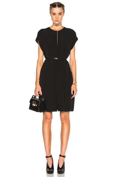 Lanvin Split Ruffle Mini Dress in Black