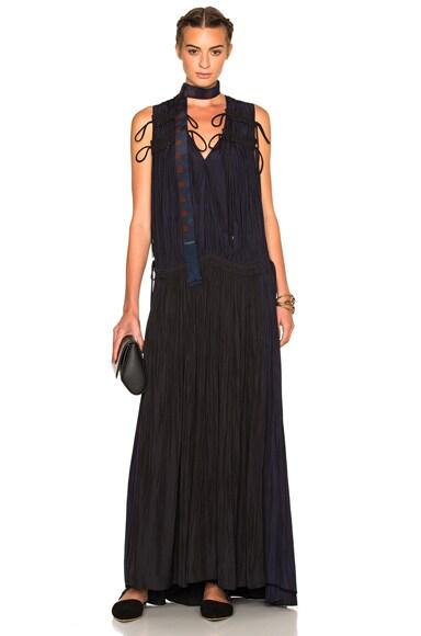 Lanvin Long Dress in Midnight Blue