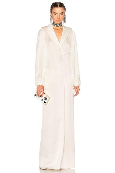 Lanvin Robe Dress in Shell