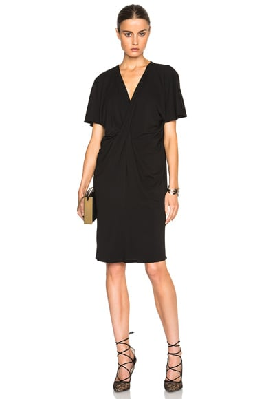 Lanvin V Neck Viscose Dress in Black