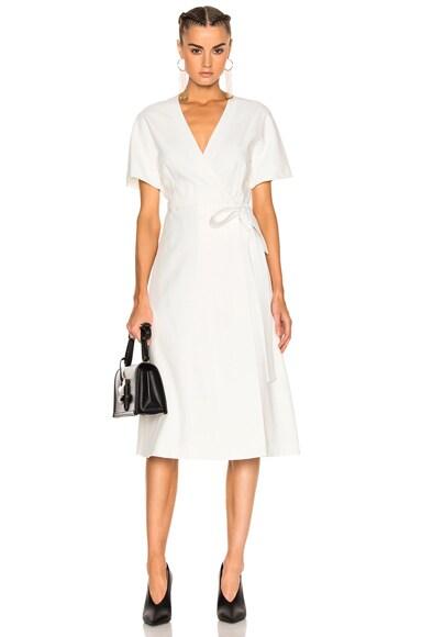 Lanvin Wrap Dress in Ivory