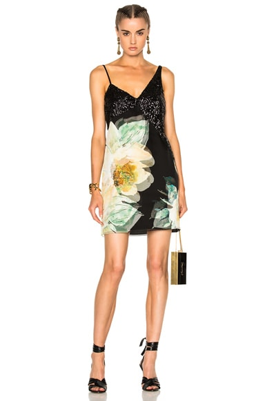 Lanvin Sleeveless Mini Dress in Dark English Rose