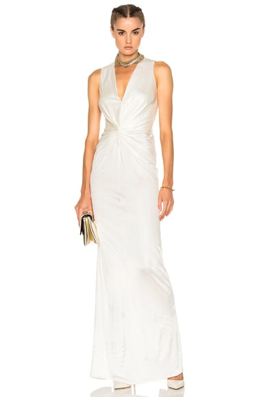 Lanvin Crossover Sleeveless Gown in Ivory