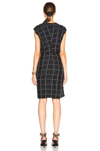 Viscose Windowpane Print Dress