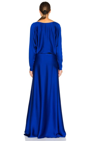Long Sleeve Viscose Gown