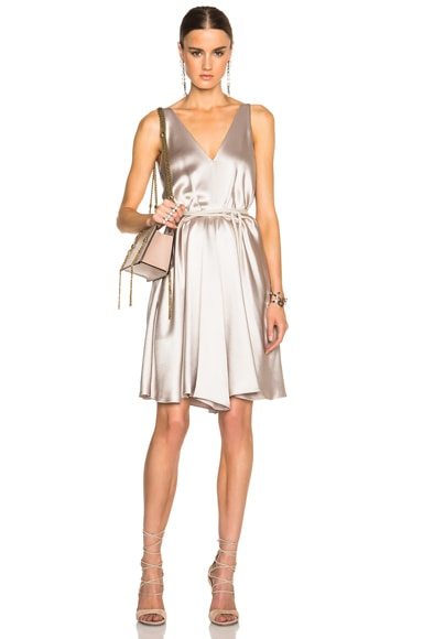 Lanvin Cord Tie Dress in Mastic