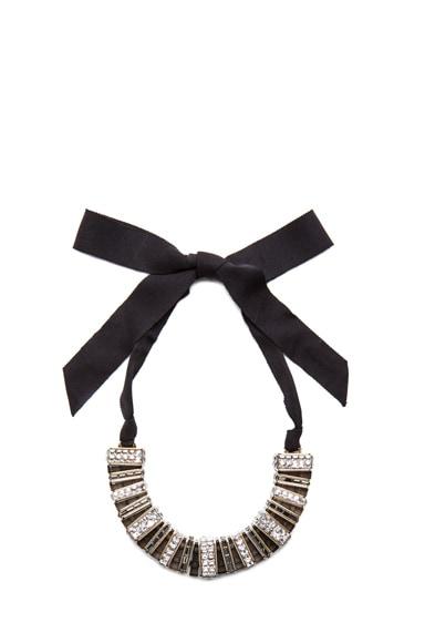 Jewel Collar Antique Brass Necklace
