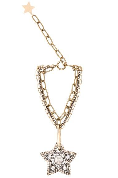 Lanvin Star Pendant Necklace in Gold
