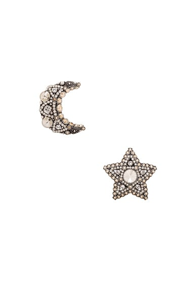 Lanvin Star & Moon Earrings in Gold