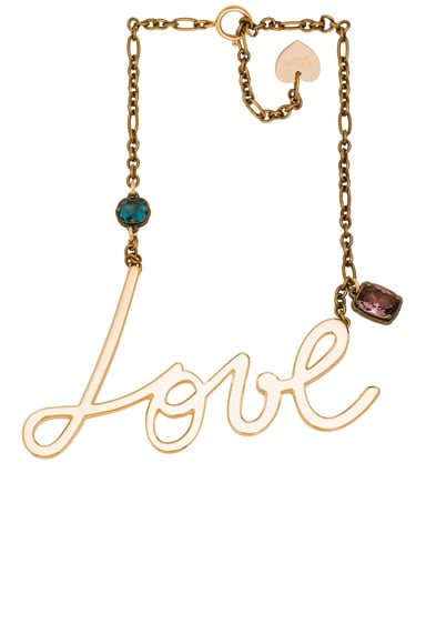 Lanvin Love Necklace in Gold