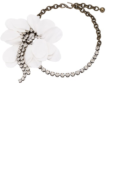Lanvin Flower Necklace in Ivory