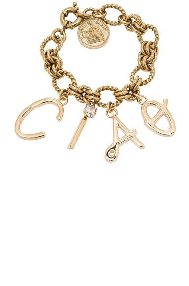 Lanvin Ciao Charms Bracelet in Gold