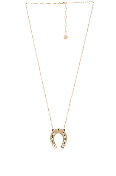 Lanvin Pendant Horseshoe Necklace in Gold