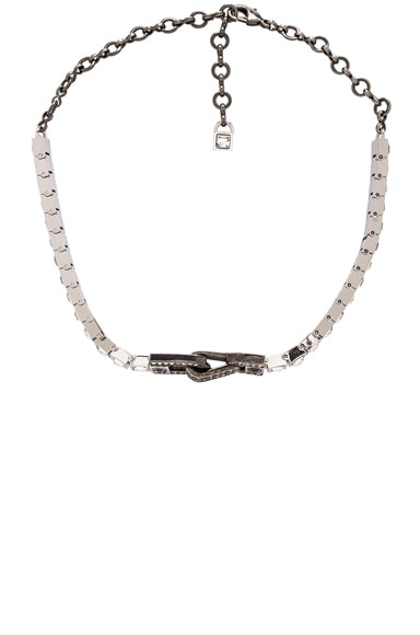 Lanvin Thin Choker Necklace in Crystal