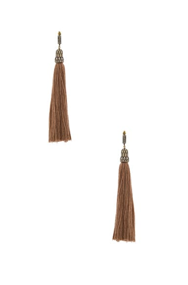 Lanvin Tassel Earrings in Beige