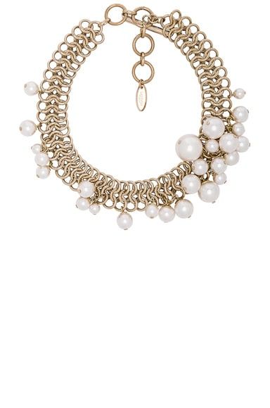 Lanvin Pearl Choker Necklace in White