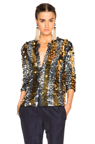 Lanvin Sequin Jacket in Black
