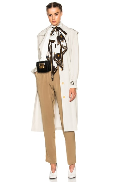 Lanvin Belted Trench Coat in Moon
