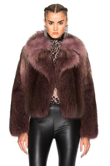 Lanvin Racoon Fur Jacket in Parme