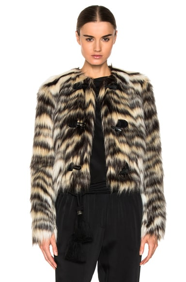Lanvin Faux Fur Jacket in Tawn