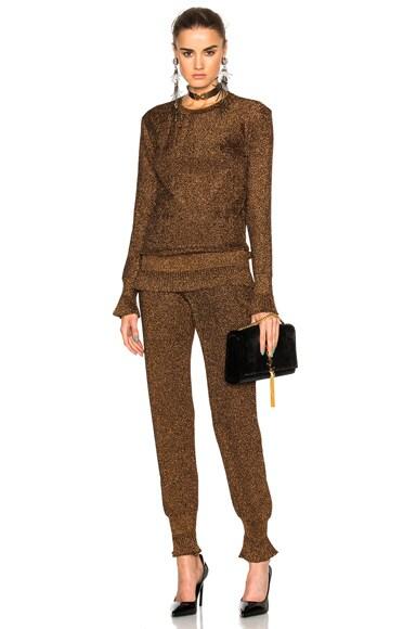 Metallic Knit Trousers