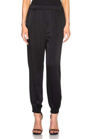 Lanvin Viscose Trousers in Black