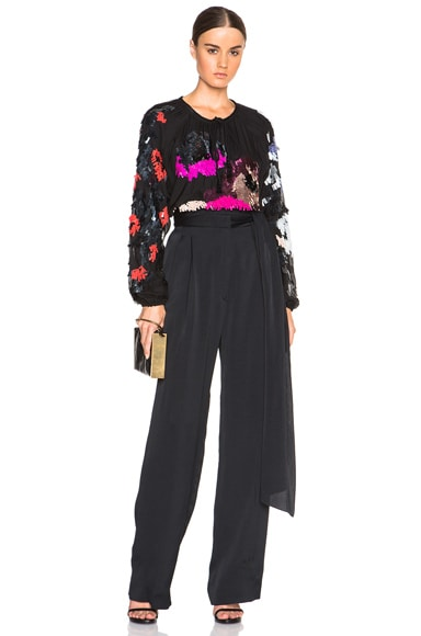 Wide Leg Trousers with Tie Waist