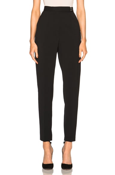 Lanvin High Waist Wool Trousers in Black