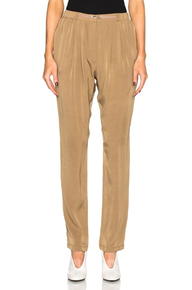 Lanvin Silk Trousers in Havana