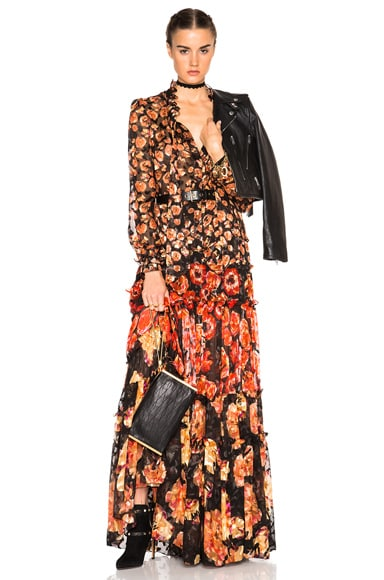 Devore Leopard Maxi Skirt