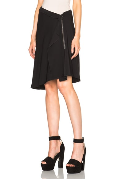 Lanvin Tie Skirt in Black